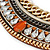Tribal Jewelled Chain Collar Necklace In Gold Tone - 40cm L/ 5cm Ext - view 4