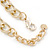 Tribal Jewelled Chain Collar Necklace In Gold Tone - 40cm L/ 5cm Ext - view 5