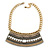 Tribal Jewelled Chain Collar Necklace In Gold Tone - 42cm L/ 4cm Ext - view 6