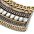 Tribal Jewelled Chain Collar Necklace In Gold Tone - 42cm L/ 4cm Ext - view 3