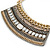 Tribal Jewelled Chain Collar Necklace In Gold Tone - 42cm L/ 4cm Ext - view 5