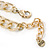 Tribal Jewelled Chain Collar Necklace In Gold Tone - 42cm L/ 4cm Ext - view 4
