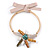 Statement Flower Gold Plated Metal Bar with Silk Ribbon Choker Necklace - Adjustable - view 3