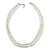8mm Two Strand White Faux Glass Pearl Necklace - 50cm L/ 5cm Ext
