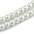8mm Two Strand White Faux Glass Pearl Necklace - 50cm L/ 5cm Ext - view 3