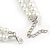 8mm Two Strand White Faux Glass Pearl Necklace - 50cm L/ 5cm Ext - view 4