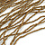 Statement Gold/ Bronze Glass Bead Fringe Necklace - 41cm L/ 20cm Front Drop - view 4