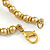 Statement Gold/ Bronze Glass Bead Fringe Necklace - 41cm L/ 20cm Front Drop - view 6