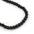Long Multi-strand Black/ White Ceramic Bead, Acrylic Ring Necklace - 90cm L - view 6