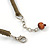Brown Bead Cluster Cord Necklace - 48cm L/ 3cm Ext - view 5