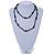 Black Ceramic/ Glass Bead Long Necklace - 100cm L - view 4