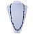 Black Ceramic/ Glass Bead Long Necklace - 100cm L - view 5