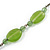 Vintage Inspired Green Ceramic Bead with Tassel Bronze Tone Chain Necklace - 96cm L - view 5