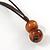Brown/ Black/ Natural Cluster Bead Cord Necklace - 70cm L - view 6