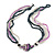 Multistrand Glass Bead Necklace (Transparent/ Hematite/ Pink) - 43cm L