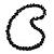 Black Ceramic Cluster Bead Necklace - 80cm L