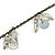Transparent Glass Bead, Sea Shell Charm with Bronze Tone Chain Necklace - 80cm L - view 3