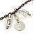 Transparent Glass Bead, Sea Shell Charm with Bronze Tone Chain Necklace - 80cm L - view 4