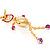 Gold Kitty Fashion Pendant - view 2