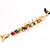 Rainbow Fish Cotton Cord Pendant Necklace (Gold Tone) - view 8