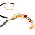 Rainbow Fish Cotton Cord Pendant Necklace (Gold Tone) - view 10