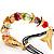 Rainbow Fish Cotton Cord Pendant Necklace (Gold Tone) - view 11