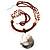 Romantic Jumbo Genuine Silvery Brown Shell Pendant - view 4