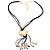 Gold Tone Multi Cord Tassel Fashion Heart Pendant - view 2