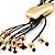 Gold Tone Multi Cord Tassel Fashion Heart Pendant - view 4