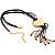 Gold Tone Multi Cord Tassel Fashion Heart Pendant