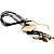 Gold Tone Multi Cord Tassel Fashion Heart Pendant - view 5