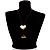 Gold Tone Multi Cord Tassel Fashion Heart Pendant - view 6