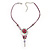 Rose And Butterfly Vintage Leather Cord Pendant (Purple, Pink&Lilac) - view 4