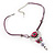 Rose And Butterfly Vintage Leather Cord Pendant (Purple, Pink&Lilac) - view 10