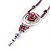 Rose And Butterfly Vintage Leather Cord Pendant (Purple, Pink&Lilac) - view 2