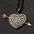 Black-Tone Clear Crystal Heart & Arrow Fashion Pendant - view 8