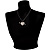 Black-Tone Clear Crystal Heart & Arrow Fashion Pendant - view 7