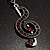 Antique Silver Tone Music Treble Clef Pendant (Purple) - view 4