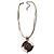 Black&White Enamel Disk Cord Pendant (Copper Tone) - view 8