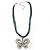 Vintage Butterfly Cord Pendant (Green&Blue) - view 6