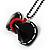 Stylish Plastic Bow Pendant (Black&Red) - view 3