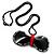 Stylish Plastic Bow Pendant (Black&Red) - view 2