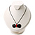 Stylish Plastic Bow Pendant (Black&Red) - view 4