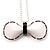 Stylish Plastic Bow Pendant (White&Black)