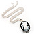 Long Cameo 'Classic Lady' Silver Tone Oval Locket Pendant - 56cm L - view 5