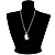 Long Cameo 'Classic Lady' Silver Tone Oval Locket Pendant - 56cm L - view 2