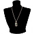 Long 'Classic Lady' Multicoloured Crystal Cameo Pendant Necklace (Silver Tone) - view 3