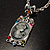 Long 'Classic Lady' Multicoloured Crystal Cameo Pendant Necklace (Silver Tone) - view 6