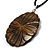 Huge Shell Floral Cotton Cord Pendant (Silver Tone) - view 5