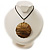 Huge Shell Floral Cotton Cord Pendant (Silver Tone) - view 3